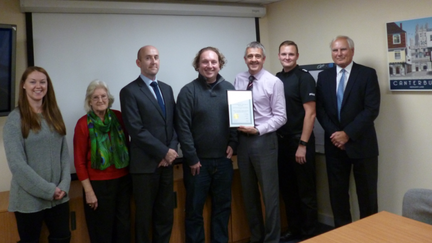 Canterbury District Watch has received a distinction level pass from its Safer Business Accreditation assessment