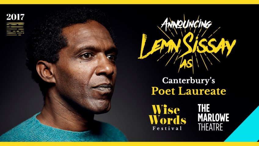 WORLD-famous writer Lemn Sissay is today announced as Canterbury's Poet Laureate